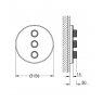 Купити Зовнішня панель вентиля для вбудованого монтажу Grohe Grohtherm SmartControl (29152LS0) в Києві vannaja.kiev.ua