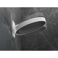 Купить большой настенный душ Hansgrohe 26230700 Rainfinity Ø 360 мм цвет белый матовый с настенным креплением