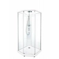 Купить Душевая Кабина Ido 100x100 558.486.00.1 SHOWERAMA 10-5 Comfort 558486001 серебристый, прозрачное стекло/ матовое стекло