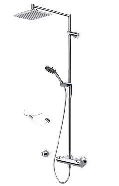 Купити ORAS 7192U Optima 7192 Душова Система з Верхнім Душем 257 мм Rain Shower і Термостатом в Києві vannaja.kiev.ua