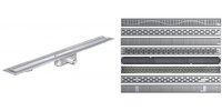 """ACO 408585 ShowerDrain Решітка для Каналу 685 мм дизайн """"Лінія"""""""