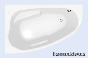 Купить Cersanit JOANNA Ванна акриловая 150x95 левая + ножки PW01 S301-167 в Киеве vannaja.kiev.ua