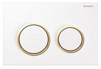 Geberit 115.085.KJ.1 Omega20 Кнопка Подвійного Змиву для унітазу Колір білий / глянсовий хром / білий