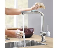 Oras 2727F Optima 2727 Сенсорный Cмеситель для Кухни с Поворотным Изливом и Клапаном для Посудомоечной Машины Работает от сети 230V Цвет Хром