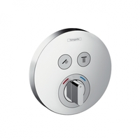 Hansgrohe 15765000 ShowerSelect 15765 Термостат на 2 Споживача з Держателем Колір Хром