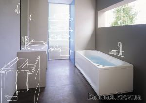 купить JACUZZI Brooklyn Dx Гидромассажная ванна 170 * 70 в Киеве vannaja.kiev.ua