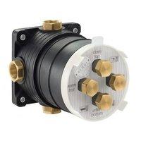Вбудований змішувач для ванни та душу з термостатом KLUDI BALANCE 528308775 чорний матовий / хром