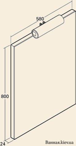 купить KOLO QUATTRO 88111 Зеркала в Ванную Комнату с подсветкой 58 см П в Киеве vannaja.kiev.ua