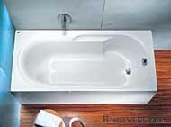 Купить Kolo XWP0350000 Laguna Киев Ванна 150 x 75 см XWP0350 + ножки SN0 в Киеве vannaja.kiev.ua