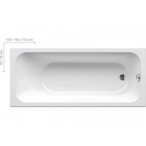 Купити Ravak C741000000 Chrome 170х75 Ванна акрилова прямокутна 170x75 Колір - Білий 741 мільйон в Києві vannaja.kiev.ua