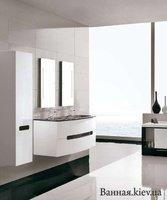 Royo 21534 Soul 121534 Мебель для Ванной 130 Тумбочка под Умывальник цвет Белый с Черным (Испания)