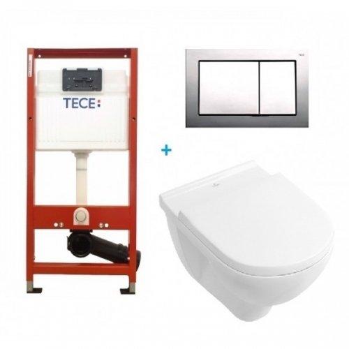 Купить Villeroy & Boch 5660HR01 O.NOVO Direct Flush + 9400006 TECEbase Kit 9.400.006 Комплект из Унитаза с Сиденьем и Инсталяции в Киеве vannaja.kiev.ua