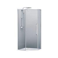 Купити чорного душову кабіну DevIT FEN0140B ART 2.0 пятікугольная разпашная 90х90 прозоре