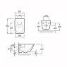 Купить Подвесной унитаз с сиденьем soft-close JACOB DELAFON E1306-00 ESCALE 130600 в Киеве vannaja.kiev.ua