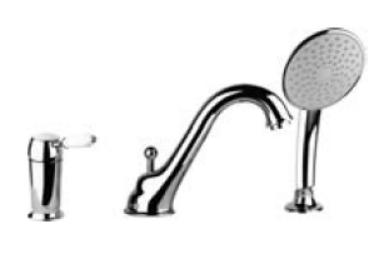 Купити GESSI 15337 ROMANCE 15337-140-101 Змішувач для Ванни на 3 Отвори з Перемикач на виливу в Києві vannaja.kiev.ua