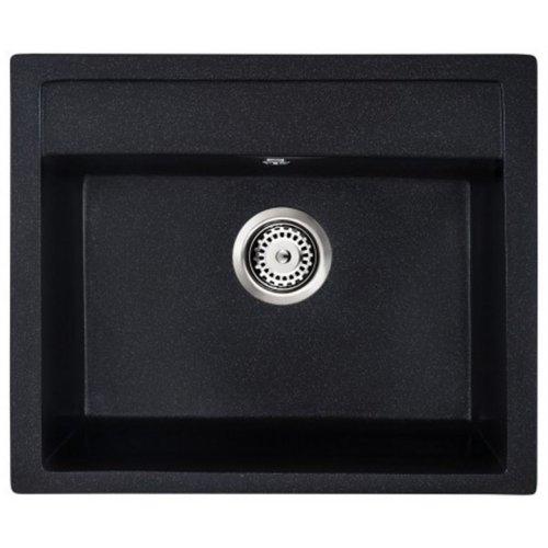 Купить Мойка кухонная GRANADO LERIDA BLACK SHINE 570 мм в Киеве vannaja.kiev.ua