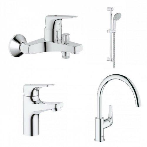 Купить Grohe 121640 K Bau Flow 121640K Комплект для ванны Кухни и раковины в Киеве vannaja.kiev.ua