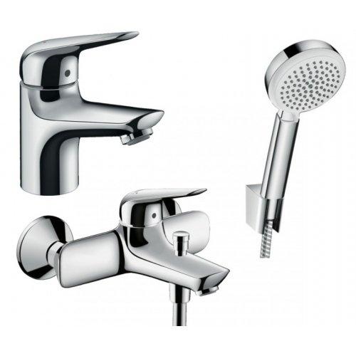 Купить Набор смесителей для ванны с душем 3 в 1 HANSGROHE 710242663 NOVUS в Киеве vannaja.kiev.ua