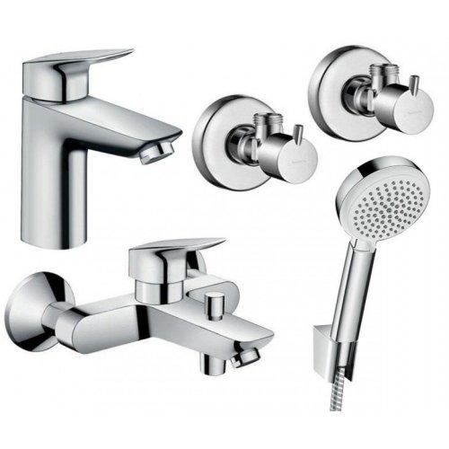 Купить Набор смесителей для ванны 4 в 1 HANSGROHE 711714410 LOGIS 100 в Киеве vannaja.kiev.ua