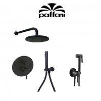 Тримач для великого душа PaFFoni ZSOF 034 NO зі стіни 400 мм колір-Nero Opaco ZSOF034NO