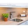 Купить Oras 2727F Optima 2727 Сенсорный Cмеситель для Кухни с Поворотным Изливом и Клапаном для Посудомоечной Машины Работает от сети 230V Цвет Хром в Киеве vannaja.kiev.ua