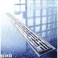 TECE 601010 Решетка TECEdrainline Basic Линия из Нержавеющей Стали Прямая длина 100 см Поверхность Полированная 6.010.10