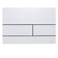 TECE 9.240.832 TECEsquare II Bright White 9240832 Панель смыва Клавиша Смыва двойная Металлическая Цвет Белый